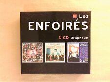 COFFRET 3 CD / ENFOIRES EN 2000 / LE ZENITH / DERNIERE EDITION AVANT L'AN 2000