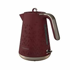 Morphy Richards 108253 3000W 1.5L Prism Textured Electric Jug Kettle - Red