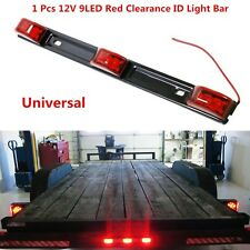 Red 9-LED For Car Truck Clearance ID Light Bar Brake Tail Lamp Sealed Waterproof