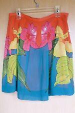 Bandolino Fashion Bright Sassy Print Skirt 14 Petite NWT