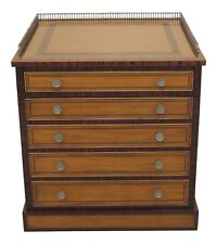 46532Ec: Maitland Smith Satinwood Inlaid Occasional Cabinet