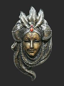 Venetian Mask La Piuma Feather Wall Decoration Carnival Venice Masquerade 20435