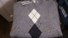 NWT $60 INC INTERNATIONAL CONCEPTS MENS CREW NECK ARGYLE SWATER GRAY XL X-LARGE