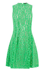 Oasis High Neck Lace Dress 16