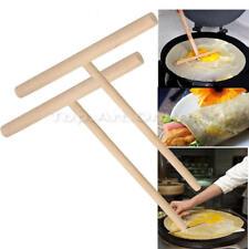 2 Rateau à Crêpes en bois Spatule Pancake Batter Spreader Rake Spatula Rastrillo