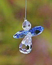 Blue Guardian Angel Sun Catcher/Rainbow Maker Swarovski Crystal Element + Gift B