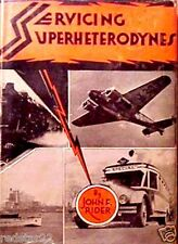 Servicing Superheterodynes Tube type Radios by John F. Rider Book on CD w/BONAS