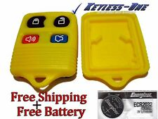 KEYLESS ENTRY REPLACEMENT REMOTE  SHELL CASE FORD 4 BUTTON CWTWB1U331 (YELLOW)