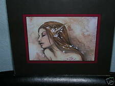 Amy Brown - Elf Maid - Matted Mini - Signed - Rare