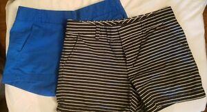 J Crew Broken In Chino/Tommy Hilfiger Striped Shorts sz 6  13-12