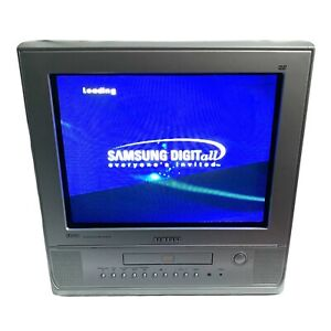 "Samsung (DW15G10VD) 14"" CRT TV DVD Combi Retro Gaming Monitor TV Working"