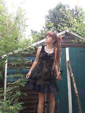 Womens Size Small Pagan Druid Witch Black Tree Ogham Rune Dress Killstar Style