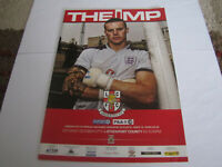 2012 Lincoln City vs Stockport County Football Programme SIGNED