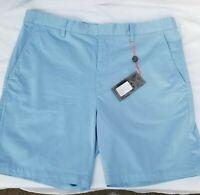 Fennec Super Soft Carolina Blue Cotton/Span Flat Front Shorts NWT SALE: $21.99