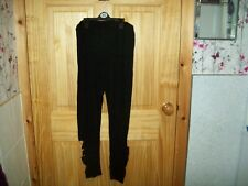 *** LOOK** NEW BLACK  DETAILED SLASHED  LEGGINGS SIZE 16-18 ***