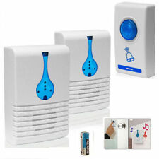 WIRELESS DOOR BELL 32 CHIME HOME CORDLESS PORTABLE 100M RANGE DIGITAL DOORBELL