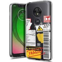 Thin Gel Phone Case for Motorola G7 Play/Power/Plus,Sticker 20 Fragile Print