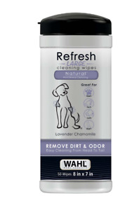 Wahl Refresh 50 LARGE dog cleaning wipes - Lavender & Chamomile