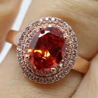 Vintage Ruby Moissanite Ring Women Anniversary Jewelry 14K Rose White Gold