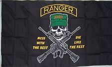 3x5 Rangers Army Airborne Mess With The Best Flag 3'x5' house banner grommets