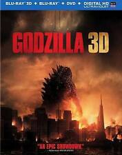 Godzilla (Blu-ray/DVD, 2014, Includes Digital Copy Ultraviolet 3D/2D) - NEW!!