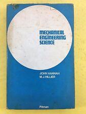 Mechanical Engineering Science - John Hannah & M.J. Hillier - Pitman