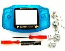 GBA Nintendo Game Boy Advance Replacement Housing Shell Clear Blue Pokemon