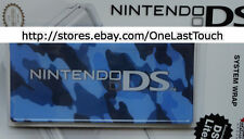 NINTENDO System Wrap for DS LITE MODEL Blue Camouflage TOUGH ADHESIVE COVER New!