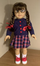 """American Girl Beforever Molly 18"""" Doll With Meet Outfit Glasses"""