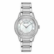 Bulova 96L257 Women's Quartz Swarovski Crystal Accents Silver-Tone 32.5mm Watch