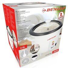 Dunlop elektrischer Reiskocher Reis Dampfgarer mit Messbecher Reislöffel 0,6 L.