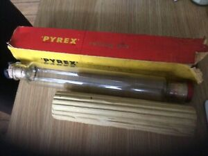 VINTAGE PYREX GLASS ROLLING PIN
