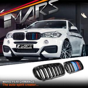 Gloss Black X6M F86 X5M F85 Stripe Style Bumper bar Grill for BMW X5 F15 X6 F16