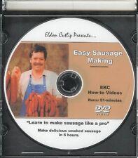 Eldon Cutlip Easy Sausage Making Smoking Curing DVD w/ 8 Recipes #102A