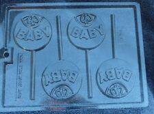 BABY BIB LOLLIPOP CHOCOLATE CANDY MOLD DIY BABY SHOWER PARTY FAVORS FAVORS