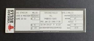 Chicago Bulls vs Phoenix Suns 1988 Unused Basketball Ticket - Michael Jordan 42