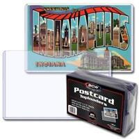 Postcard Sleeves Topload Holders 5 7/8 x 3 3/4 Pack of 25 BCW Rigid Protector