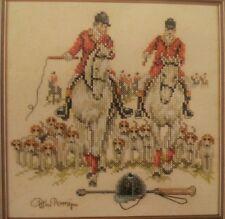 Fox Hunting Cross Stitch Kit Lanarte Life Style Horses Dogs Riders NEW 34486 NIP