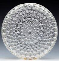 VINTAGE SCANDINAVIAN WHEEL DESIGN GLASS VASE 20TH C.