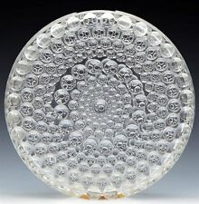 VINTAGE SCANDINAVIAN WHEEL DESIGN GLASS VASE 20TH C