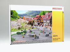 H0 Steinkunst-Set Marktplatz von Vollmer (Art.-Nr.48270) Neuware
