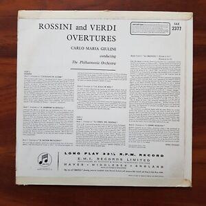 GIULINI Rossini Verdi Overtures EARLIEST PROMO PHILHARMONIA SAX 2377 VINYL LP