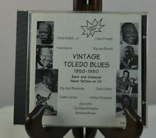 Vintage Toledo Ohio Blues 1950-1980 by Various Artists (CD, 1998) RARE FREE SHIP