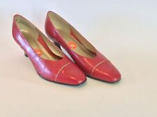 California Magdesians  Red Low Heel Slip On Classic Pumps  Women Shoes 10 N