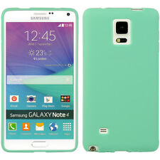 For Samsung Galaxy Note 4 - HARD RUBBER GUMMY GEL SKIN CASE COVER TEAL