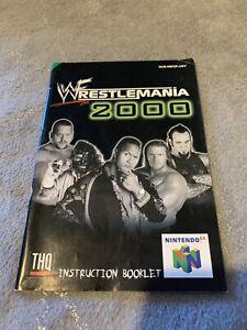 WWF/WWE WrestleMania 2000 N64 Nintendo 64 INSTRUCTION BOOKLET / MANUAL ONLY
