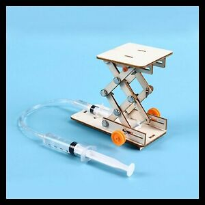 Kids DIY Science Toys Educational Scientific Experiment Kit Hydraulic Lift Table