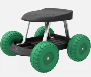 Rolling Garden Scooter Stool Wheeled Cart Car Repair Home Yard Work With Seat