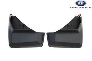 13-16 GMC Acadia Rear Molded Splash Guards 22935679 Black w// GMC Logo OEM GM