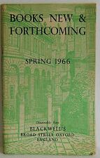 Blackwells England Books new & Forthcoming spring catalogue 1966 Vintage book